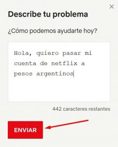 pasar cuenta de netflix a pesos argentinos
